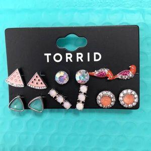 Set of 6 Summer earrings